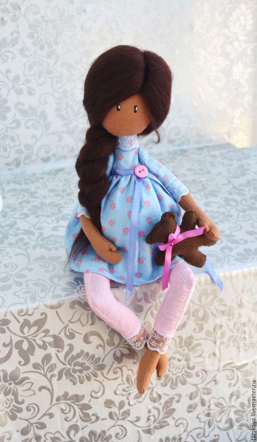 Коллекционные куклы ручной работы. Ярмарка Мастеров - ручная работа. Купить Беременюшка. Handmade. Голубой, кукла в подарок, кукла текстильная