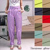 Одежда handmade. Livemaster - original item Banana pants 13 colors. Summer pants with high waist. Handmade.