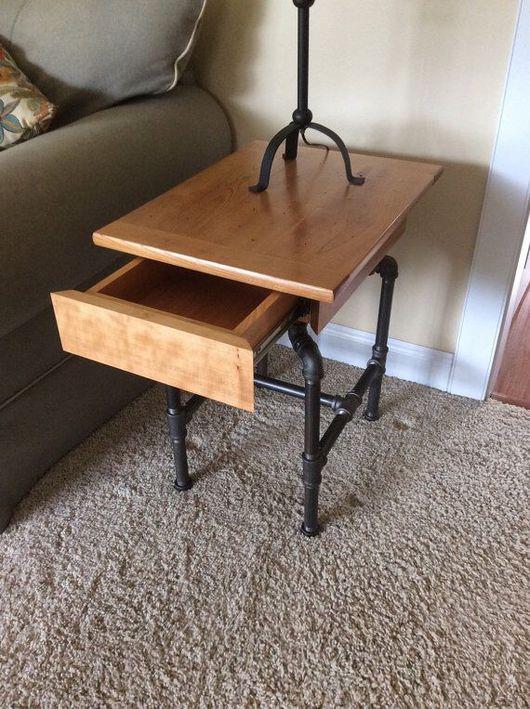 Мебель ручной работы. Ярмарка Мастеров - ручная работа. Купить Прикроватный столик. Handmade. Лофт, мебель в стиле лофт