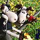 Игрушки животные, ручной работы. Ярмарка Мастеров - ручная работа. Купить Лосиная история любви :). Handmade. Бежевый, вольво