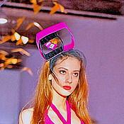 """Аксессуары ручной работы. Ярмарка Мастеров - ручная работа Вечерняя шляпка - """"Геометрия"""". Handmade."""