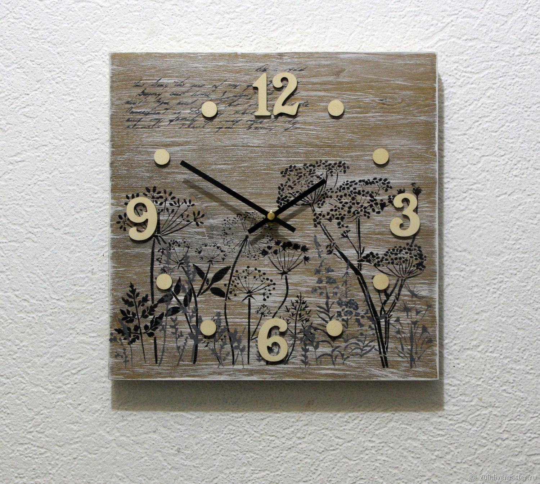 Wall clock 'Botany' light version, Watch, Podolsk,  Фото №1