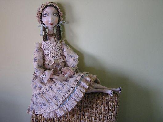 Коллекционные куклы ручной работы. Ярмарка Мастеров - ручная работа. Купить Кукла Соня. Handmade. Будуарная кукла, васильковый