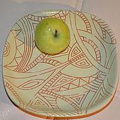 """Посуда ручной работы. Ярмарка Мастеров - ручная работа Тарелка """"Салатовое счастье"""". Handmade."""
