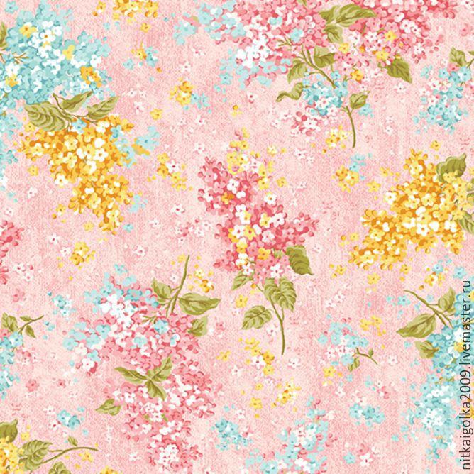Ткань для пэчворка  Love Rose  (метраж), Ткани, Липецк, Фото №1