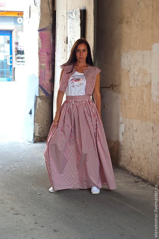 Жакет юбка в полоску