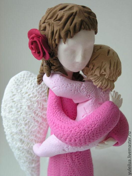 Миниатюра ручной работы. Ярмарка Мастеров - ручная работа. Купить Ангел мама в розовом 2. Handmade. Розовый, подарок подруге