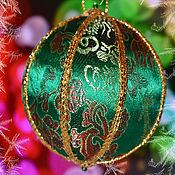 """Подарки к праздникам ручной работы. Ярмарка Мастеров - ручная работа Новогодний лоскутный шар """"Изумруд"""". Handmade."""