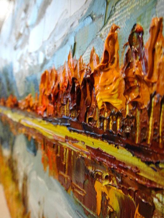 Пейзаж ручной работы. Ярмарка Мастеров - ручная работа. Купить Картина маслом Осень пейзаж. Handmade. Пейзаж, Фактурный, горы
