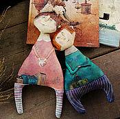"""Куклы и игрушки ручной работы. Ярмарка Мастеров - ручная работа """"Марфа и Ерёма. Юные мечтатели"""". Handmade."""