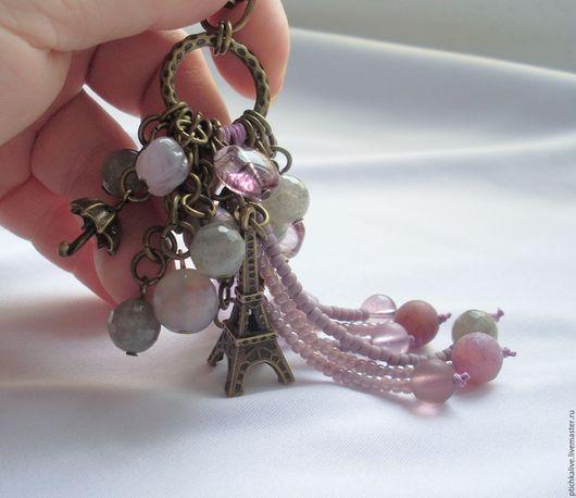 Брелоки ручной работы. Ярмарка Мастеров - ручная работа. Купить В Париже, где свет розовый... Брелок для сумки ключей рюкзака. Handmade.