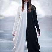 Одежда handmade. Livemaster - original item Fashion Romper cotton two-tone - JP0369PM. Handmade.