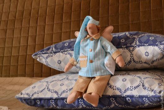 Куклы Тильды ручной работы. Ярмарка Мастеров - ручная работа. Купить Ангел добрых снов. Handmade. Голубой, сплюшка