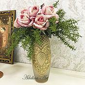 Для дома и интерьера ручной работы. Ярмарка Мастеров - ручная работа КРИСТИ GOLD ваза. Handmade.
