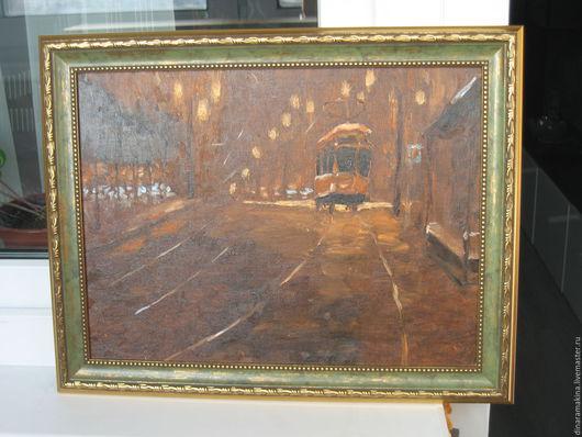 Город ручной работы. Ярмарка Мастеров - ручная работа. Купить Португальский трамвай. Handmade. Коричневый, трамвай, город, городской пейзаж