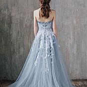 Свадебный салон ручной работы. Ярмарка Мастеров - ручная работа Свадебное платье Gray-Blue Sky. Handmade.