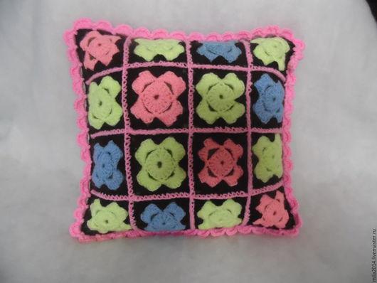 Текстиль, ковры ручной работы. Ярмарка Мастеров - ручная работа. Купить подушка декоративная Цветы. Handmade. Комбинированный, подушка на диван