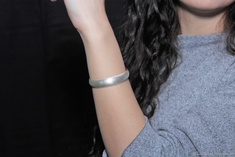 Minima Series Feather Cuff Bracelet in brushed silver ASH0015, Cuff bracelet, Yerevan,  Фото №1