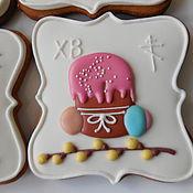 Сувениры и подарки handmade. Livemaster - original item Culinary souvenir:Gingerbread greeting card for Easter.. Handmade.