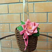 Цветы и флористика ручной работы. Ярмарка Мастеров - ручная работа Декоративная бутылка с розовым цветком. Handmade.