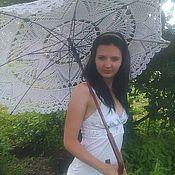 Аксессуары ручной работы. Ярмарка Мастеров - ручная работа Белый ажурный зонт. Handmade.