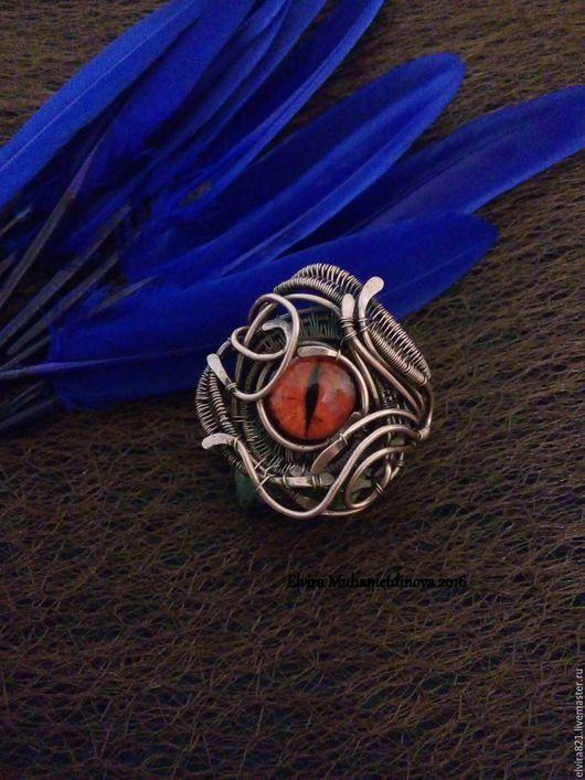 """Кольца ручной работы. Ярмарка Мастеров - ручная работа. Купить Кольцо """" Глаз Дракона"""" сделан на заказ. Handmade."""