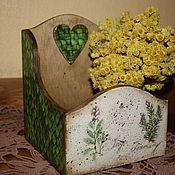 """Для дома и интерьера ручной работы. Ярмарка Мастеров - ручная работа Короб для специй """"Лукошко для трав"""". Handmade."""