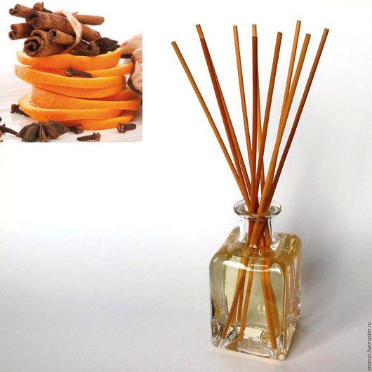 Ярмарка Мастеров - ручная работа. Купить Ароматизатор-диффузор для дома Корица-Апельсин 200 мл на основе натуральных масел. Handmade.