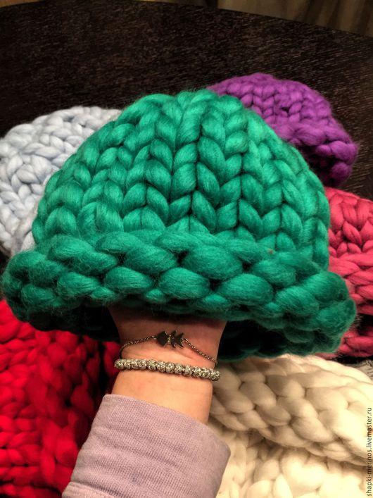 Шапки ручной работы. Ярмарка Мастеров - ручная работа. Купить шапки из шерсти мериноса. Handmade. Комбинированный, яркий, красиво, шерсть