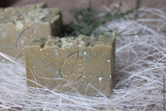 Мыло-шампунь ручной работы. Ярмарка Мастеров - ручная работа. Купить Натуральное мыло-шампунь от перхоти с серой и зеленой глиной. Handmade.