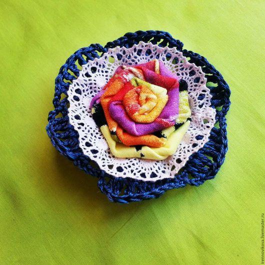 Броши ручной работы. Ярмарка Мастеров - ручная работа. Купить Брошь текстильная (6). Handmade. Брошь, брошь из ткани