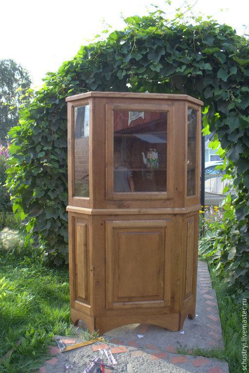 Мебель ручной работы. Ярмарка Мастеров - ручная работа. Купить Деревянный угловой шкаф из кедра Средневековый. Handmade. Комод