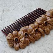 Русский стиль handmade. Livemaster - original item Wooden comb for hair!. Handmade.
