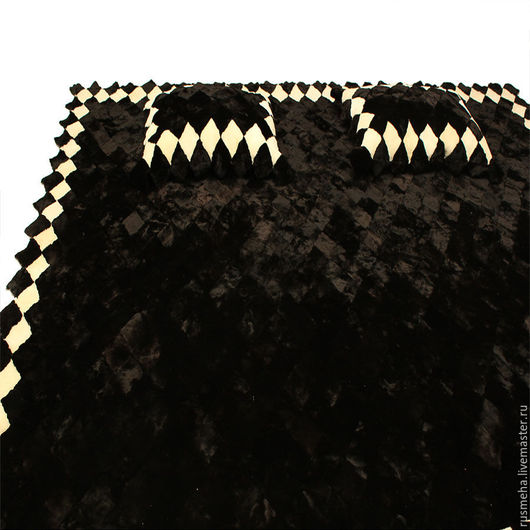 Текстиль, ковры ручной работы. Ярмарка Мастеров - ручная работа. Купить Меховое покрывало из овчины КОД: 402. Handmade.