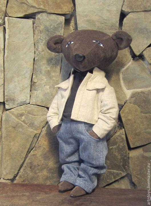 Мишки Тедди ручной работы. Ярмарка Мастеров - ручная работа. Купить Мишка Влад. Handmade. Коричневый, мишка в одежде
