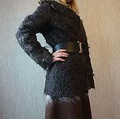 """Одежда ручной работы. Ярмарка Мастеров - ручная работа Жакет валяный """" Шоколадный крем"""". Handmade."""