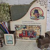 """Канцелярские товары ручной работы. Ярмарка Мастеров - ручная работа Журнальница """"Счастливое  детство """". Handmade."""
