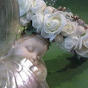Работы для детей, handmade. Livemaster - original item Headband with roses from tameran