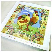 Картины и панно ручной работы. Ярмарка Мастеров - ручная работа Петух и Курочка. Схема для вышивки бисером. Handmade.