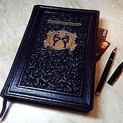 """Подарки к праздникам handmade. Livemaster - original item Ежедневник из натуральной цветной кожи """"Ваше величество"""". Handmade."""