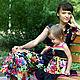 """Платья ручной работы. Ярмарка Мастеров - ручная работа. Купить Платье """"Веселые узоры"""". Handmade. Платье, хлопок-купон"""
