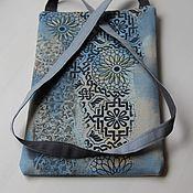 Сумки и аксессуары ручной работы. Ярмарка Мастеров - ручная работа Джинсовая сумка для планшета. Handmade.