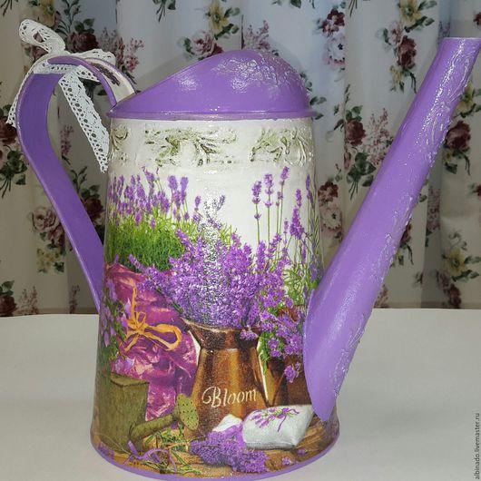 Вазы ручной работы. Ярмарка Мастеров - ручная работа. Купить ЛЕЙКА ПРОВАНС. Handmade. Фиолетовый, прованс, ваза для цветов, подарок