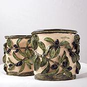 Цветы и флористика handmade. Livemaster - original item Pots Olive branch. Handmade.