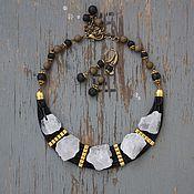Украшения handmade. Livemaster - original item Necklace beads Magic crystal of pyrite lava. Handmade.