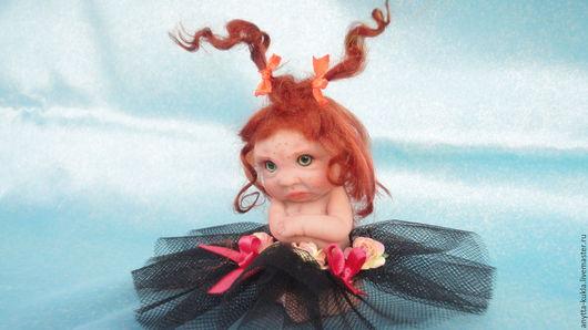 """Коллекционные куклы ручной работы. Ярмарка Мастеров - ручная работа. Купить ..""""Все, с вами не играю""""........... Handmade. Бежевый, кукла интерьерная"""