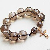 Rosary handmade. Livemaster - original item Earthy beads of Topaz with a cross. Handmade.