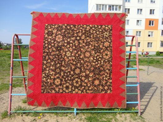 """Текстиль, ковры ручной работы. Ярмарка Мастеров - ручная работа. Купить Одеяло -покрывало """"Калейдоскоп"""". Handmade. Одеяло, лоскутное шитье"""