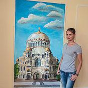 Дизайн и реклама handmade. Livemaster - original item Wall painting living room