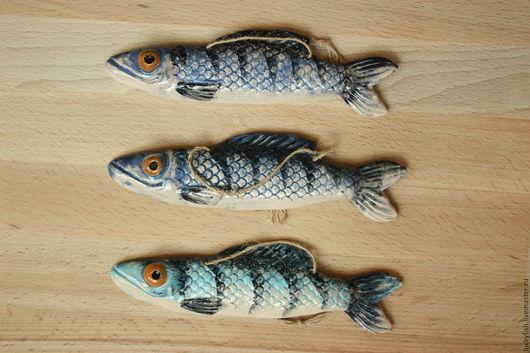 Подарки для мужчин, ручной работы. Ярмарка Мастеров - ручная работа. Купить Голубая рыбка (с2). Handmade. Голубой, рыбалка